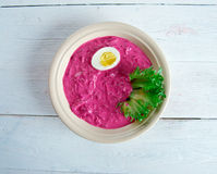 Summer Beet Soup Royalty Free Stock Images