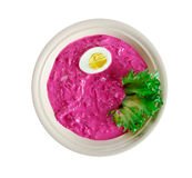 Summer Beet Soup Stock Photos