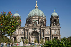 Summer at the Berlin Cathedral Royalty Free Stock Photo