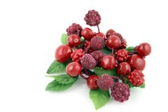 Summer Berries 1. Summer Berries on a white Background Stock Images