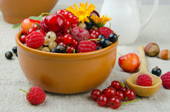 Summer berries. Still life of summer berries - cherries, strawberries, currants and etc Royalty Free Stock Photography