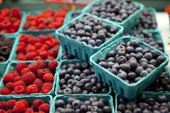 Summer Berries. In a public market Stock Photography