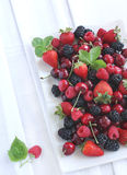 Summer berries. On a plate Stock Photo