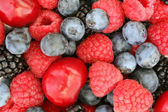 Summer berries background royalty free stock photos