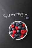 Summer berries in a bowl Stock Photo