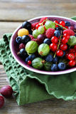 Summer berries in bowl Stock Images