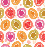 Summer berries collection Floral cute pattern royalty free illustration