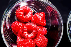 Summer berries. In glass bowls Royalty Free Stock Photos