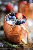 Summer berries moscow mule stock photos