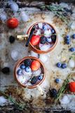 Summer berries moscow mule stock photography