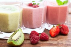 Summer berries smoothie with mint Royalty Free Stock Image