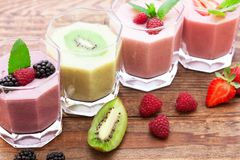 Summer berries smoothie with mint Stock Image