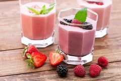Summer berries smoothie with mint Stock Photography