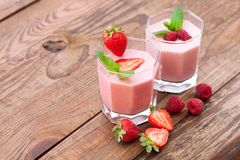 Summer berries smoothie with mint Royalty Free Stock Photography