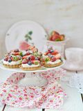 Summer berries tartlets Royalty Free Stock Images