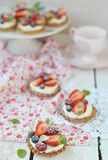 Summer berries tartlets Royalty Free Stock Photography