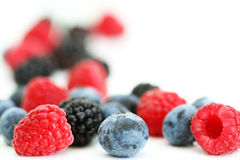 Summer berries on white Royalty Free Stock Images