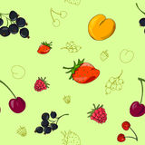 Summer berry background Stock Photos