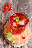 Summer berry cold drink (juice, cocktail, fruit tea) with mint Royalty Free Stock Photos