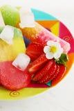 Summer berry dessert Stock Images