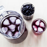A summer berry drink to cool down and get vitamins Stock Image