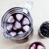 A summer berry drink to cool down and get vitamins Stock Photos