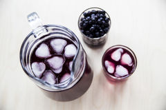 A summer berry drink to cool down and get vitamins Stock Images