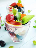 Summer berry parfait Royalty Free Stock Images