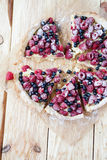 Summer berry tart with raspberries and currants Royalty Free Stock Photography
