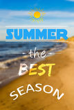 Summer the best season Royalty Free Stock Image