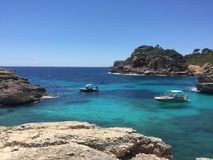 Summer is better in mallorca, spain. Summer time in mallorca, spain. Best beaches for ever. Blue sea and nature Stock Photography