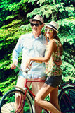 Summer on bicycle Royalty Free Stock Photography
