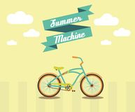 Summer Bicycle. Vector illustration – Bike is best summer machine Stock Images