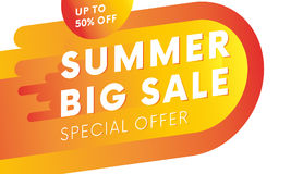 Summer big sale banner. Special offer. Vector. Summer big sale banner. Up to fifty percent off. Special offer. Vector illustration Royalty Free Stock Photography