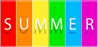 Summer big sale banner on spectrum colorfull background. Vector template design Royalty Free Stock Photo