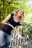 Summer Bike Ride Woman Stock Image