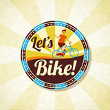 Summer bike riding retro background. Vector Royalty Free Stock Images