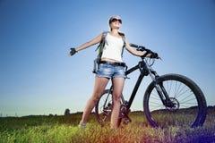 Summer bike walk Stock Image