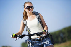 Summer bike walk Stock Photos
