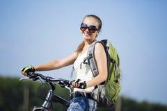 Summer bike walk Royalty Free Stock Photos