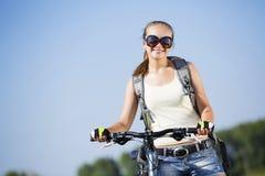 Summer bike walk Royalty Free Stock Photography
