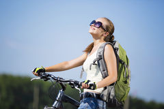 Summer bike walk Stock Images