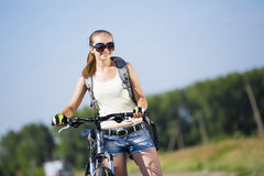 Summer bike walk Royalty Free Stock Photos