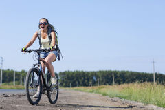Summer bike walk Royalty Free Stock Photo