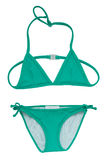 Summer Bikini Concept. Turquose Bikini Isolated on White Royalty Free Stock Photography