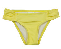 Summer Bikini Concept. Yellow  Bikini Isolated on White Stock Photos