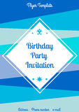 Summer birthday Flyer Template Royalty Free Stock Images