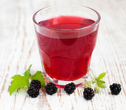 Summer blackberry  drink Royalty Free Stock Photos