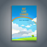 Summer blank with rainbow Stock Photos