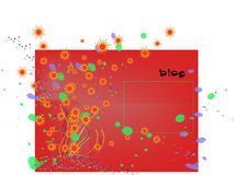Summer Blog Design. A design with flowers for summer. Good for blog or diary Stock Photography